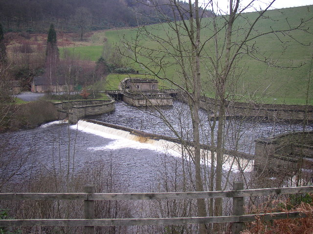 Ladybower Dam Overspill Outlet