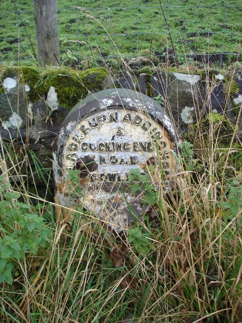 Milepost on the A6068