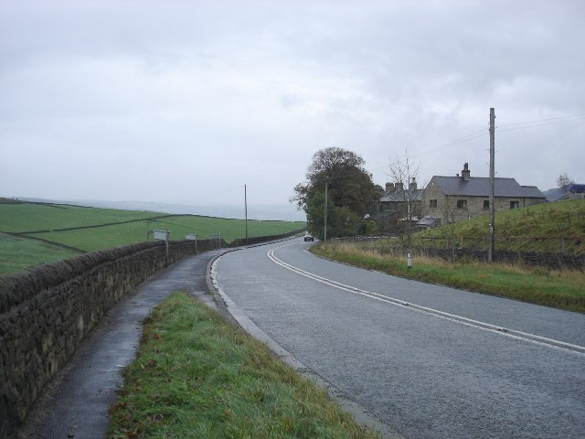 A6068 at Hey, west of Cowling