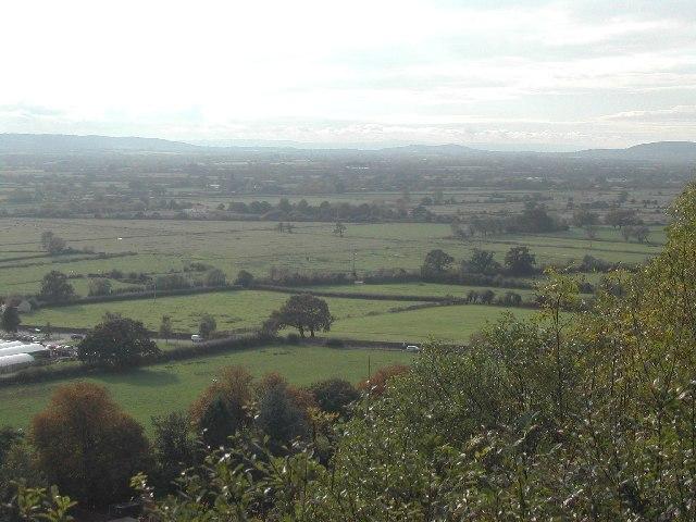 ST4364 Congresbury Moor from Cadbury Hill