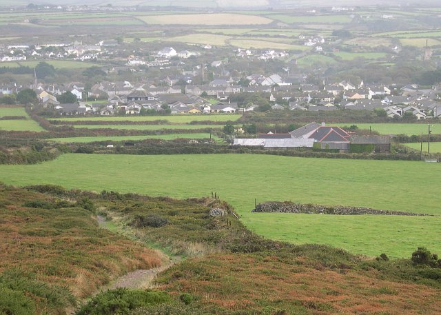 St Agnes from St Agnes Beacon