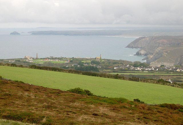 View from the eastern side of St Agnes Beacon