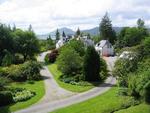 Attadale House and Gardens by Loch Carron