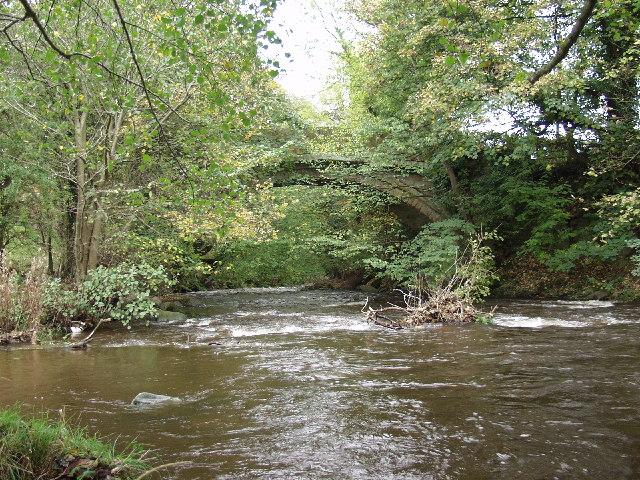 Pont-y-blew bridge over Afon Ceiriog