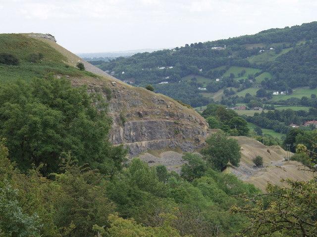 Limestone quarry at Trevor Rocks