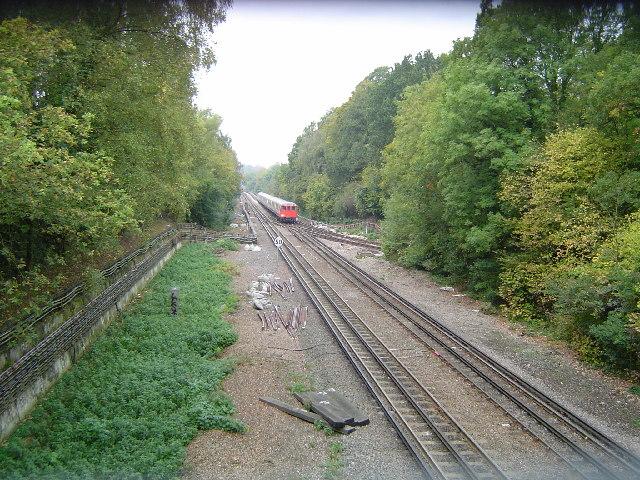 Metropolitan Line railway between Rickmansworth and Moor Park