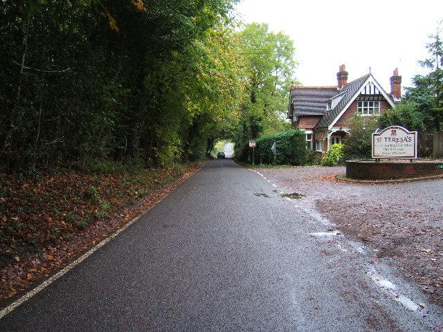 Critten Lane, Effingham near entrance to St Teresa's School