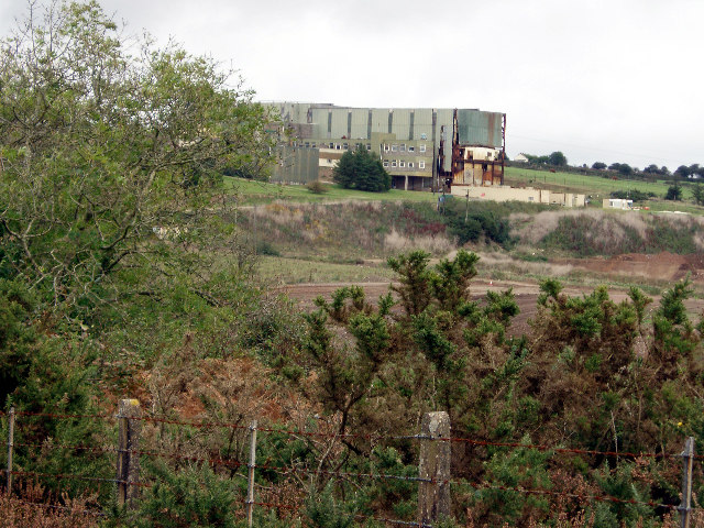 The disused Wheal Jane mine