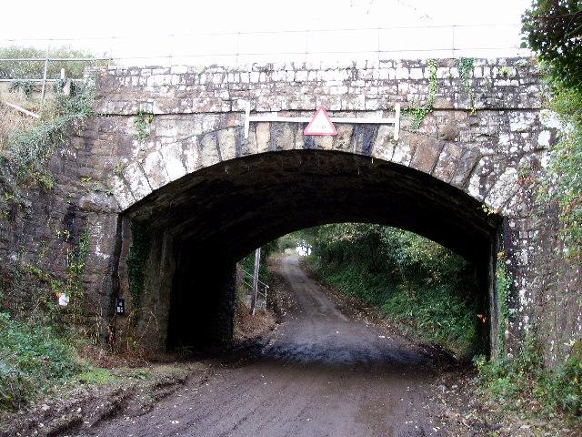 Railway bridge on the Falmouth to Truro branchline