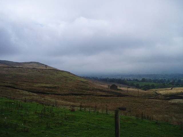 View towards Wiswell from Pendle Hill