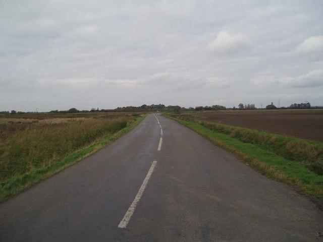 Edge Bank: an empty Fen road.