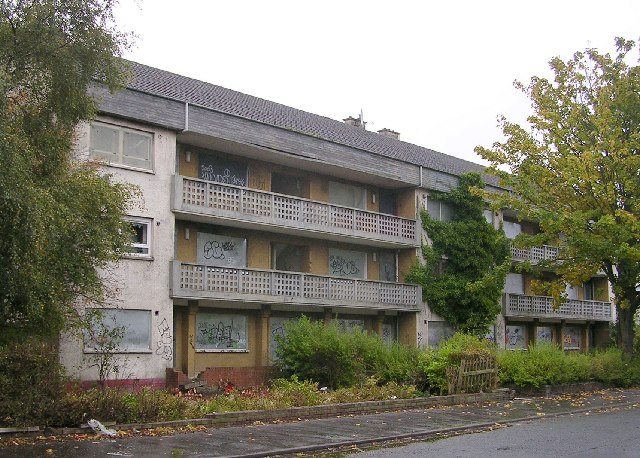 Derelict housing, Corse Road, Penilee