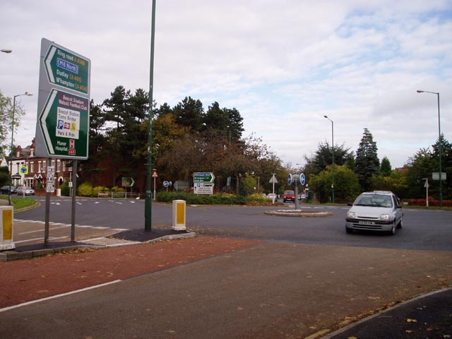 Double roundabout on the Walsall ring road