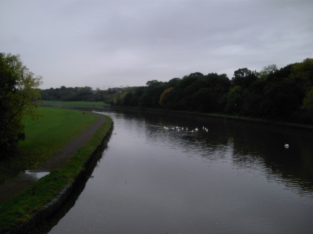 River Wansbeck Towards Riverside Park