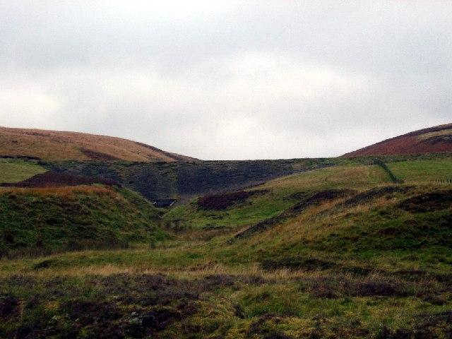 Old railway embankment near Leadhills
