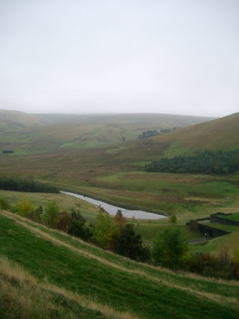 Meggat Reservoir outflow and buildings