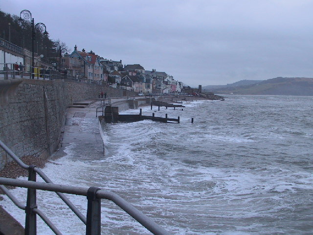 High Tide at Lyme Regis