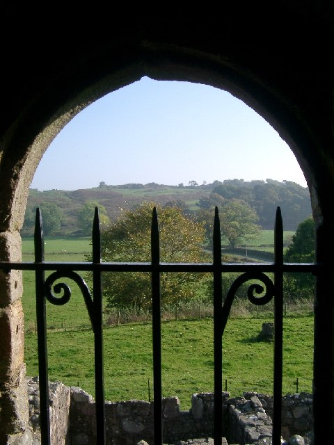 The Holm from inside Orchardton Tower