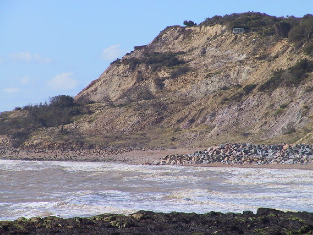 Landslips near Fairlight