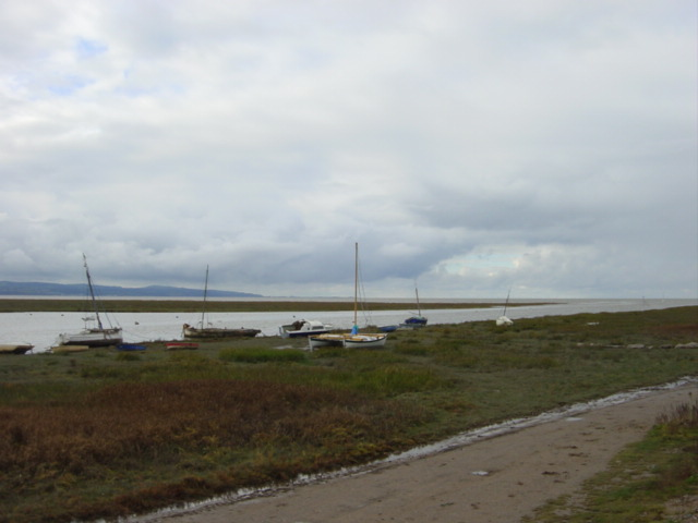 Sailing boats on Gayton Channel