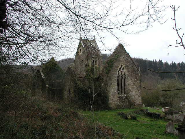 Chapel Hill (Llanandras) Ruins of St Mary's Church