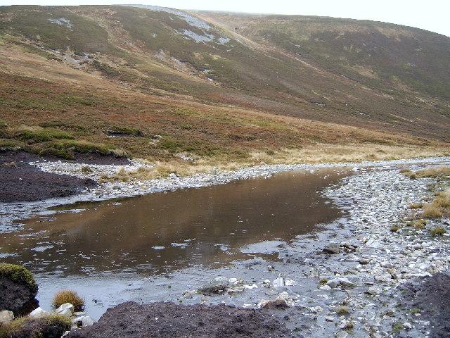 Muddy pool below Carn an Righ