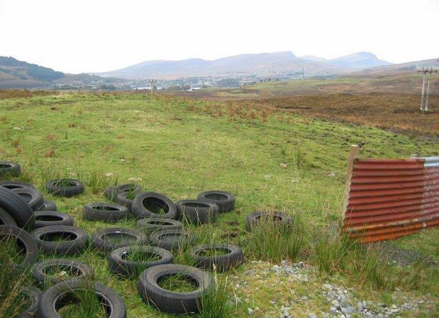 Dumped tyres, Acres.