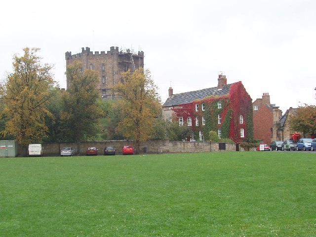 Durham Castle across Palace Green