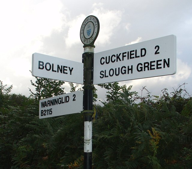 Finger Post at Broxmead Lane Junction.