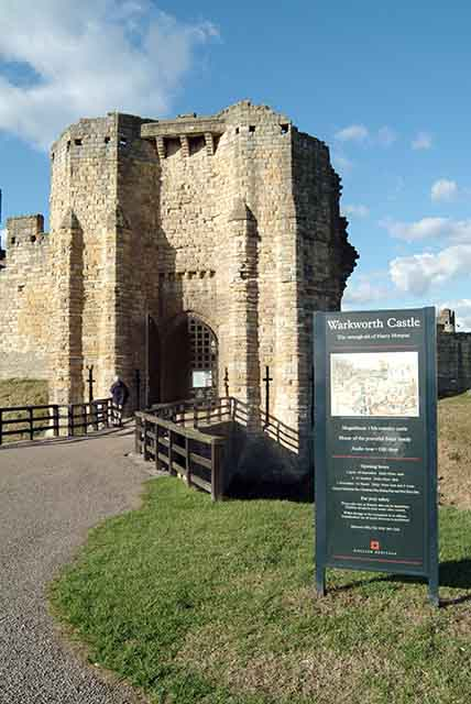 Gatehouse of Warkworth Castle.