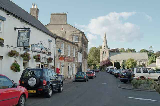 Warkworth: The Stanners and Dial Place towards church