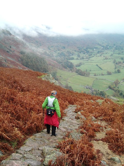 Descent into Great Langdale