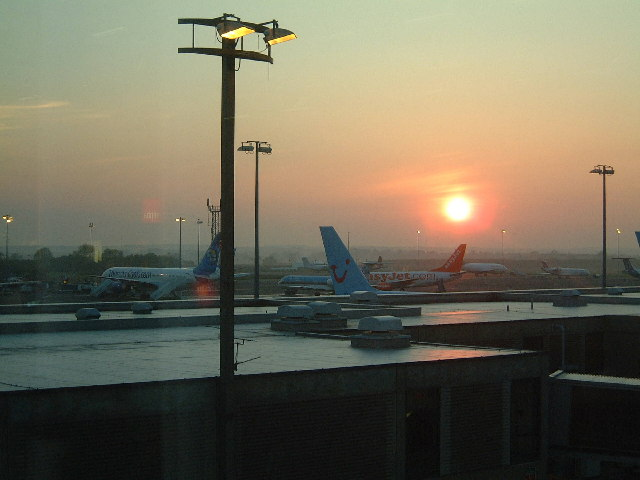 Newcastle Airport at Dawn