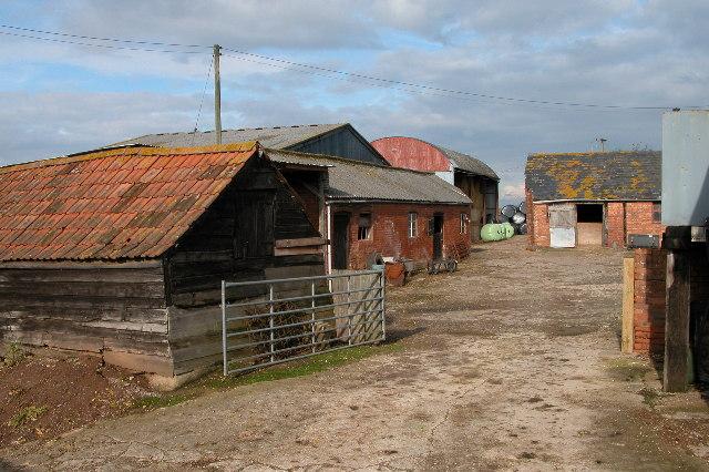 Farm buildings at New House, near Leddington