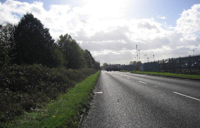Road near Oil Depot