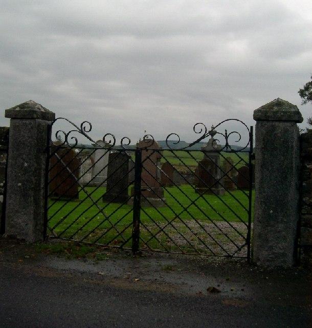 Cemetery gates and stones, Kirkpatrick Durham