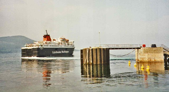 Brodick Pier with Caledonian MacBrayne Ferry