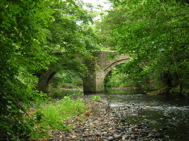 Sydenham Bridge over the River Lyd, nr Lifton, Devon