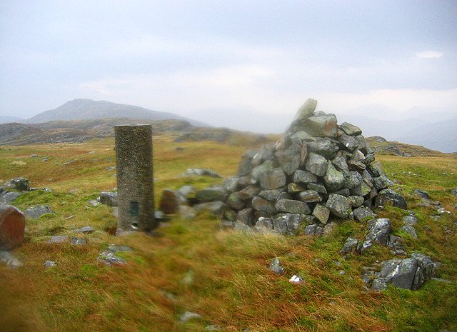 Summit, Beinn na Seamraig.