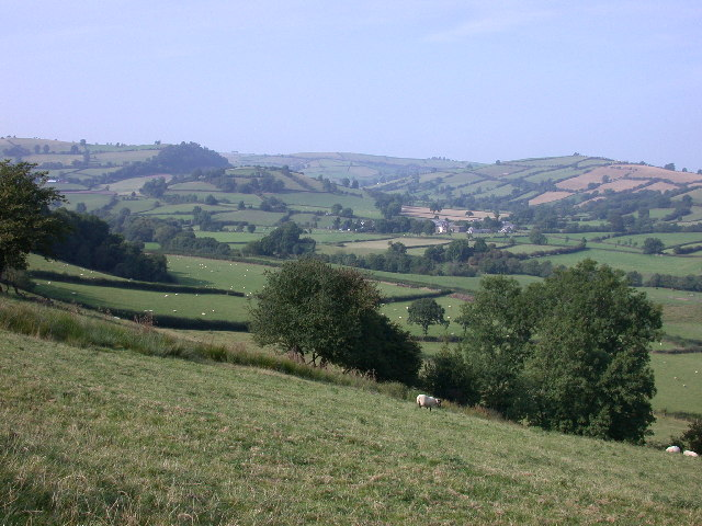 Clun Valley from Whitcott Evan Hill