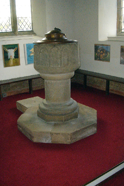Middle Rasen Church - Norman Font