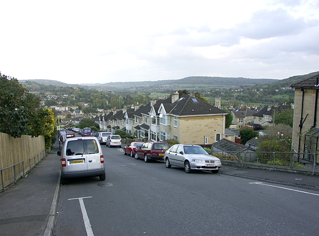 West end of Croft Road as it joins Fairfield Road