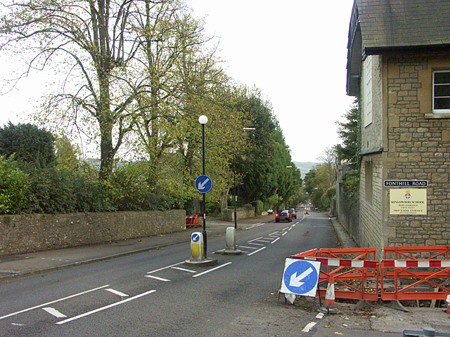 On Lansdown Road looking south-east toward Bath