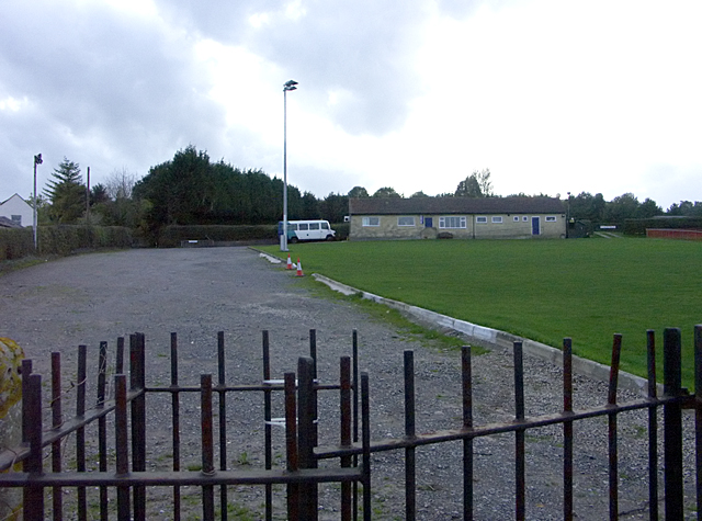 Larkhall Sports Club, WNW from the allotment area