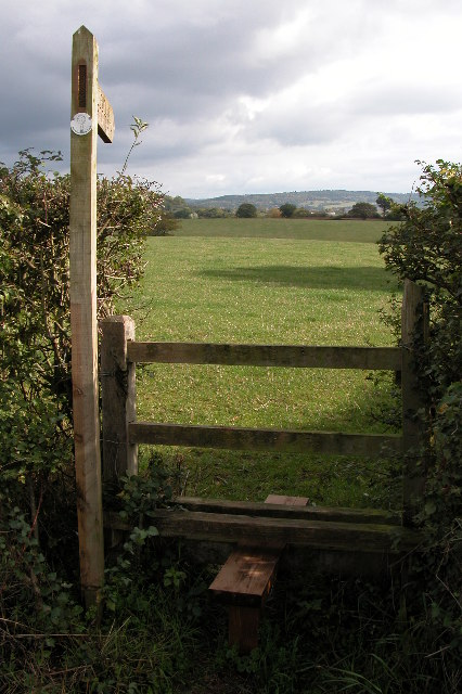 Stile on the Herefordshire Trail near Little Marcle