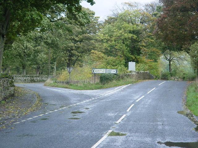 Road Junction near West Burton