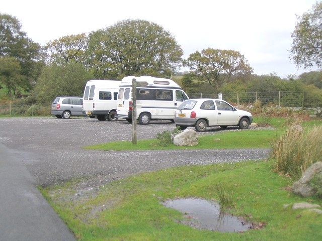 Car park near Clyn Gwyn farm