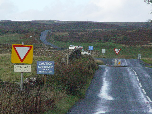 Road Junction, Leyburn Moor