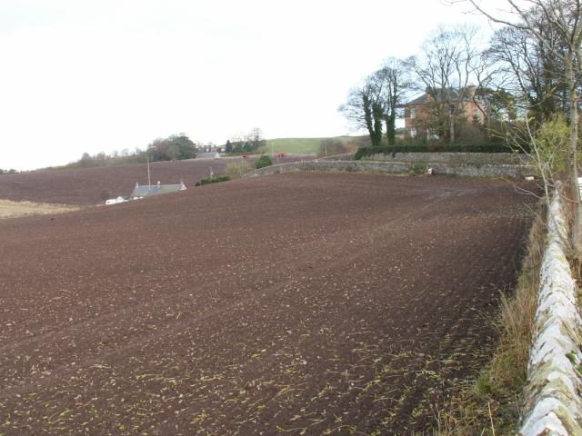 Farmland around Logie House