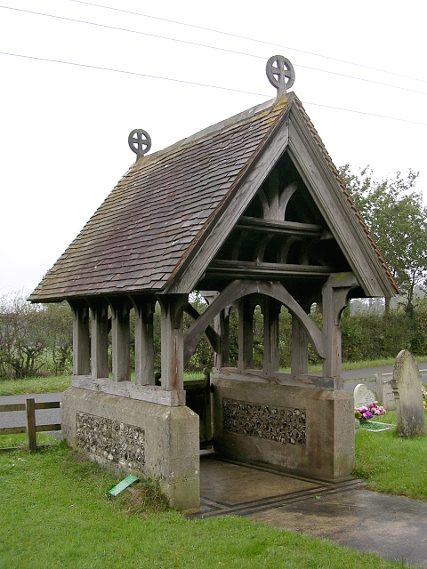 The lych gate at Christ Church, Colbury, New Forest